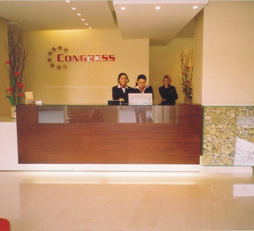 Viešbučio reception interjeras